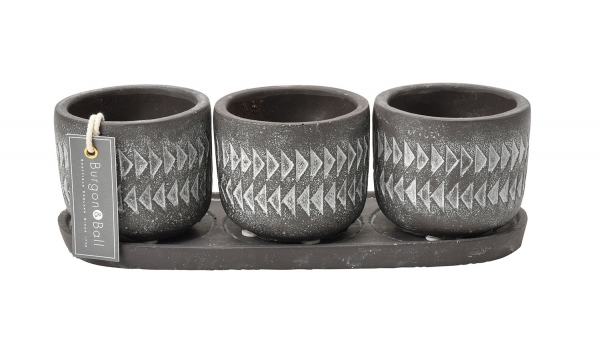 Aztec Pots Set of 3