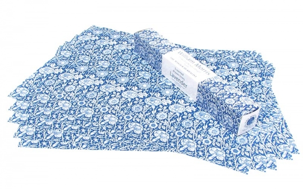 "Blue ""Pinks and Roses"" Drawer Liners"