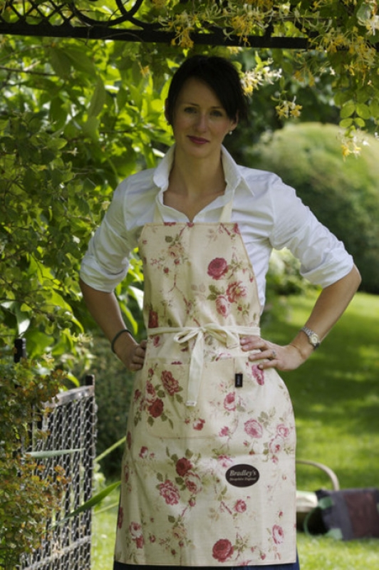 English Rose Full Apron Pink