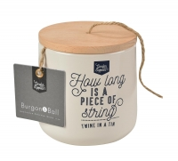 Twine Dispenser Tin - Stone
